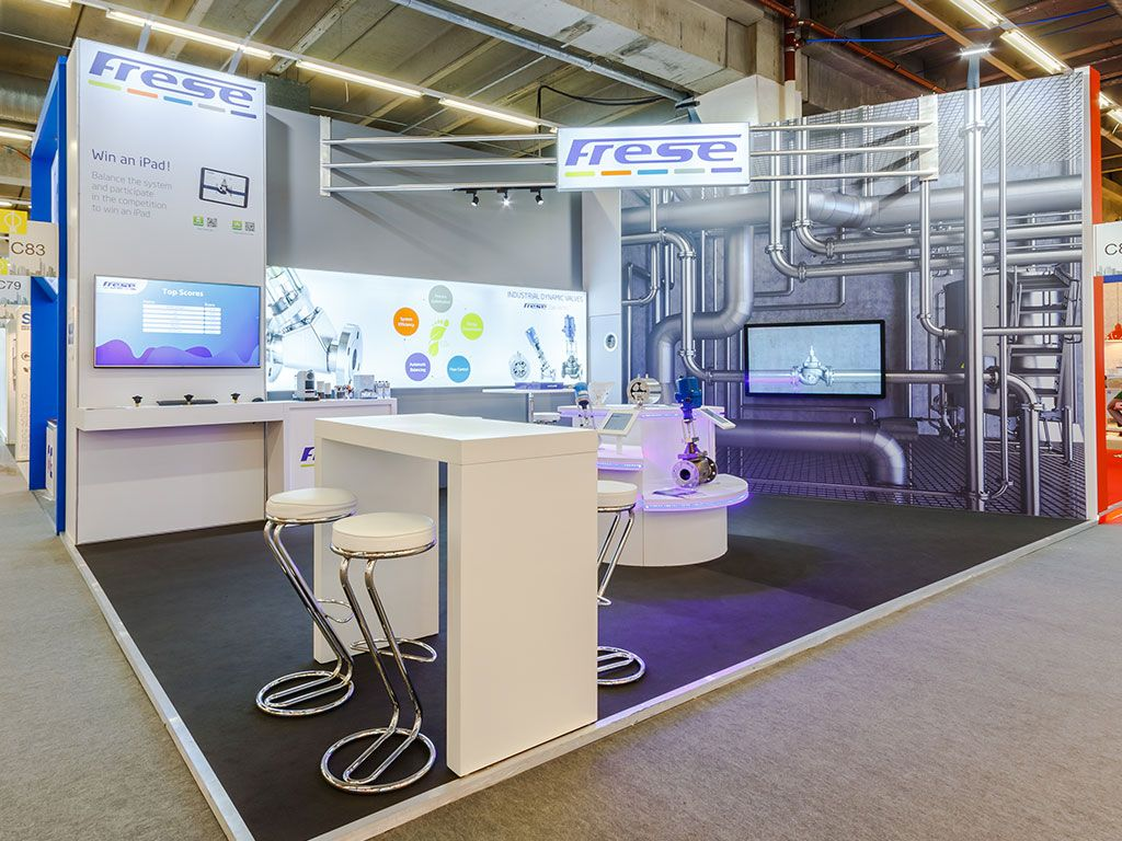 Exhibition Stand Game : Frese exhibiting at achema with an engaging exhibition stand