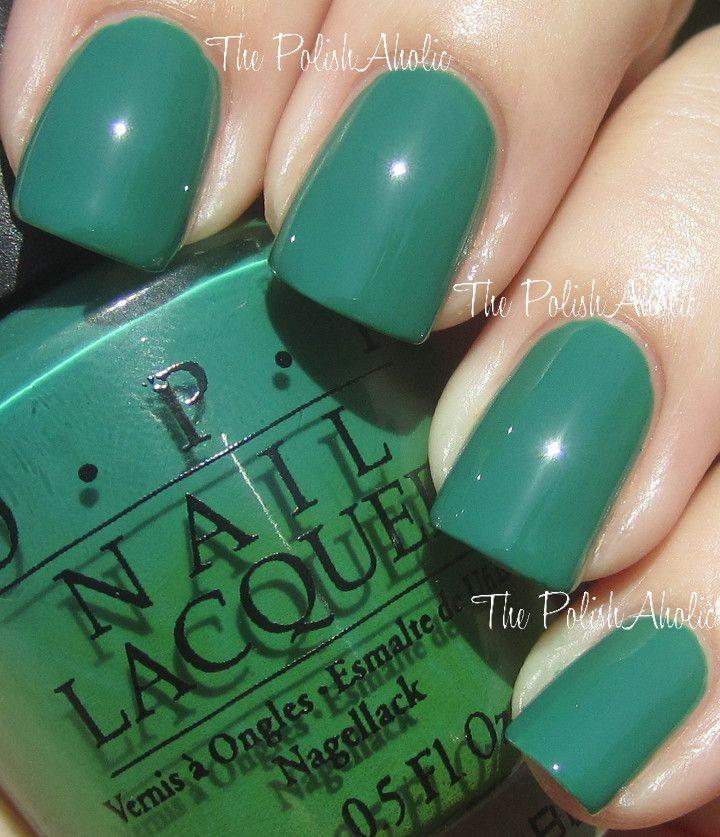 OPI Jade is the New Black | True Summer | Pinterest | OPI, Mani pedi ...