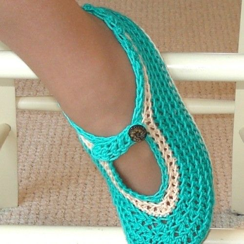 Crochet Slippers - I need to learn to crochet... these are cute!