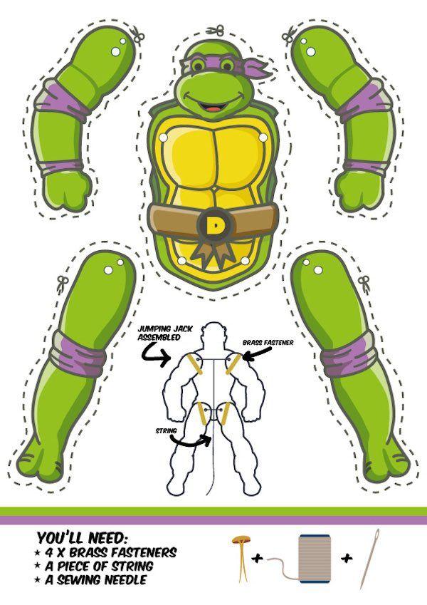7 manualidades para niños ¡de las Tortugas Ninja | Armables ...