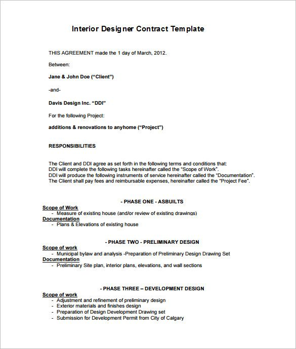 7 Interior Designer Contract Templates Pdf Doc Interior Design Business Plan Interior Design Concepts Interior Design Career
