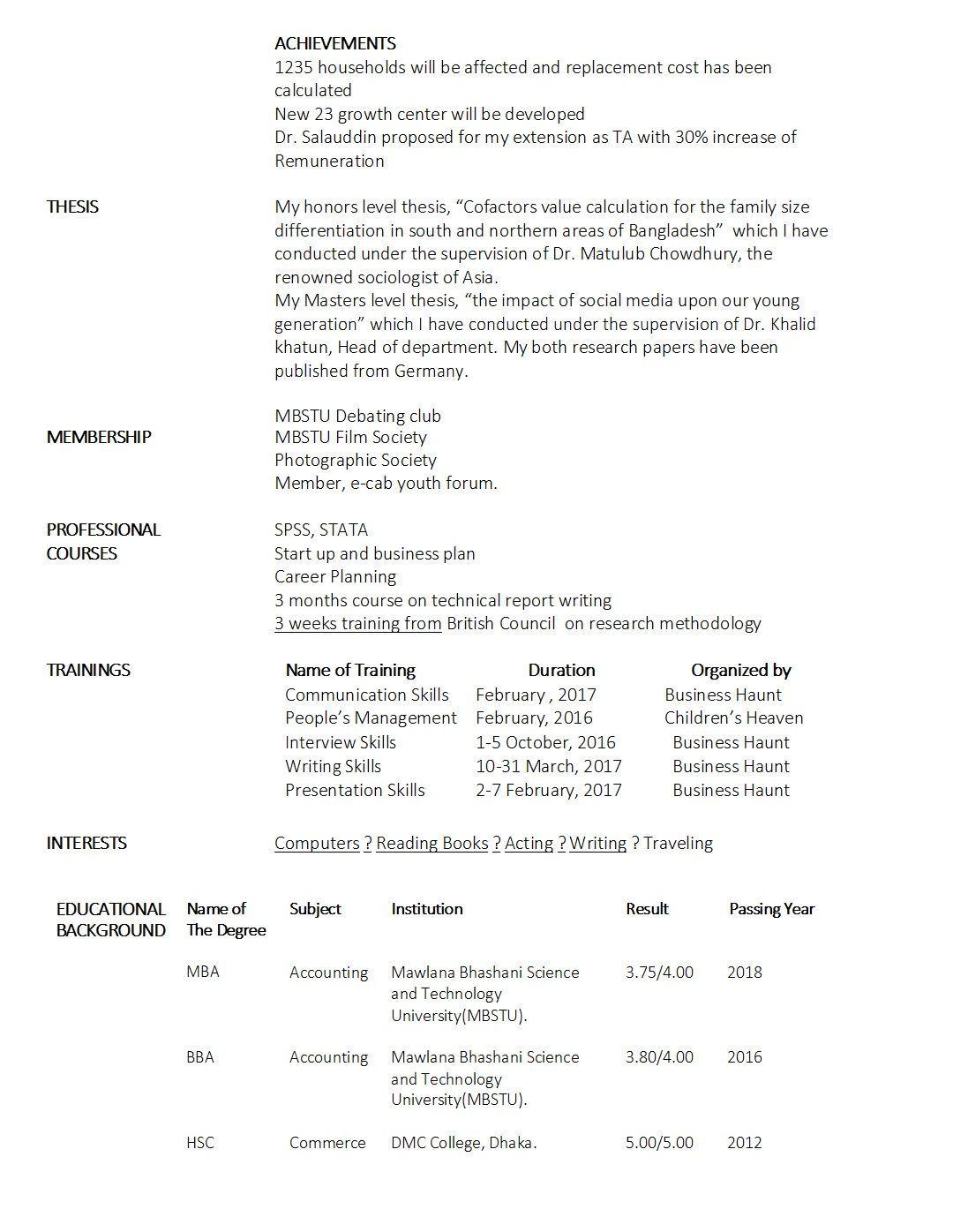 17 Automobile Fresher Resume Format