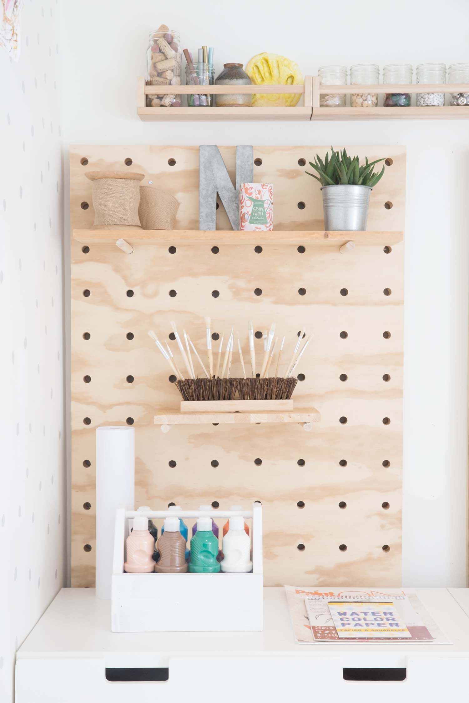 Peg Board Canada Diy Giant Pegboard For Kids Art Studio In Vancouver Canada