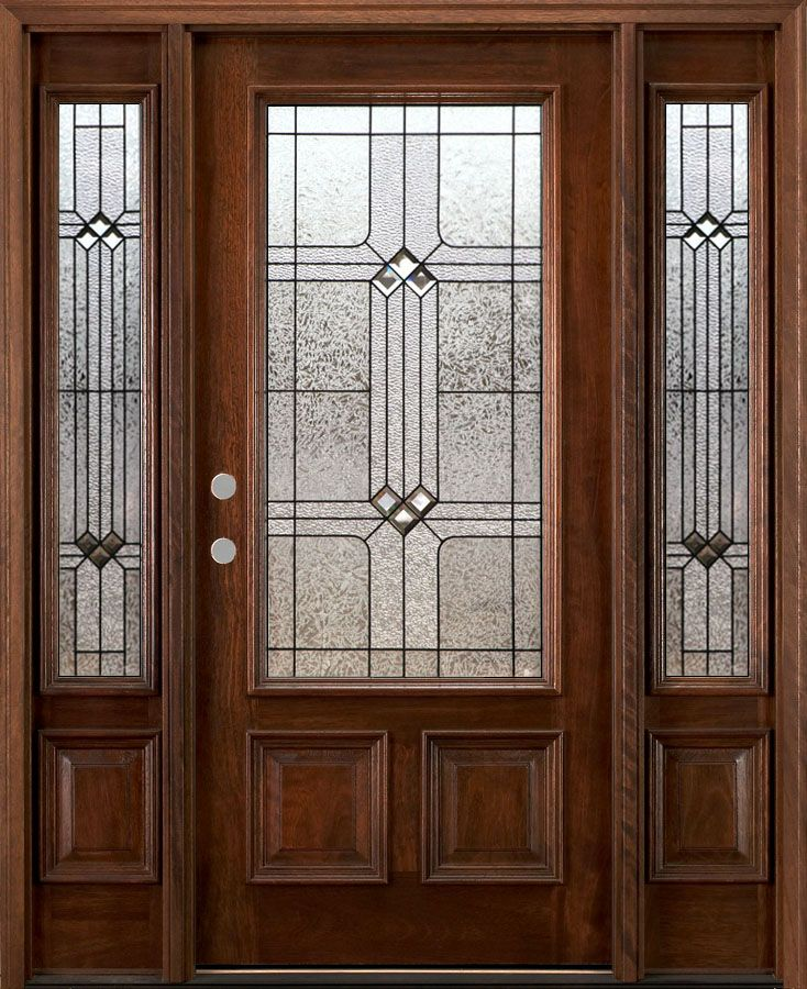 Dark Walnut Stain Color On A Front Entry Door Bought At Www Nicksbuilding Com Solidmahogan Mahogany Exterior Doors Double Doors Exterior Craftsman Front Doors