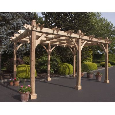 Breeze 16 Ft W X 10 Ft D Solid Wood Pergola Outdoor Pergola Pergola Patio Wood Pergola