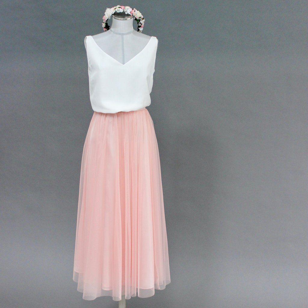 Constant Love Tullrock Altrosa Pastellfarben Braut Hochzeit Oder Hochzeitsgast Tullrock Tullrock Outfits Kleid Hochzeit Gast