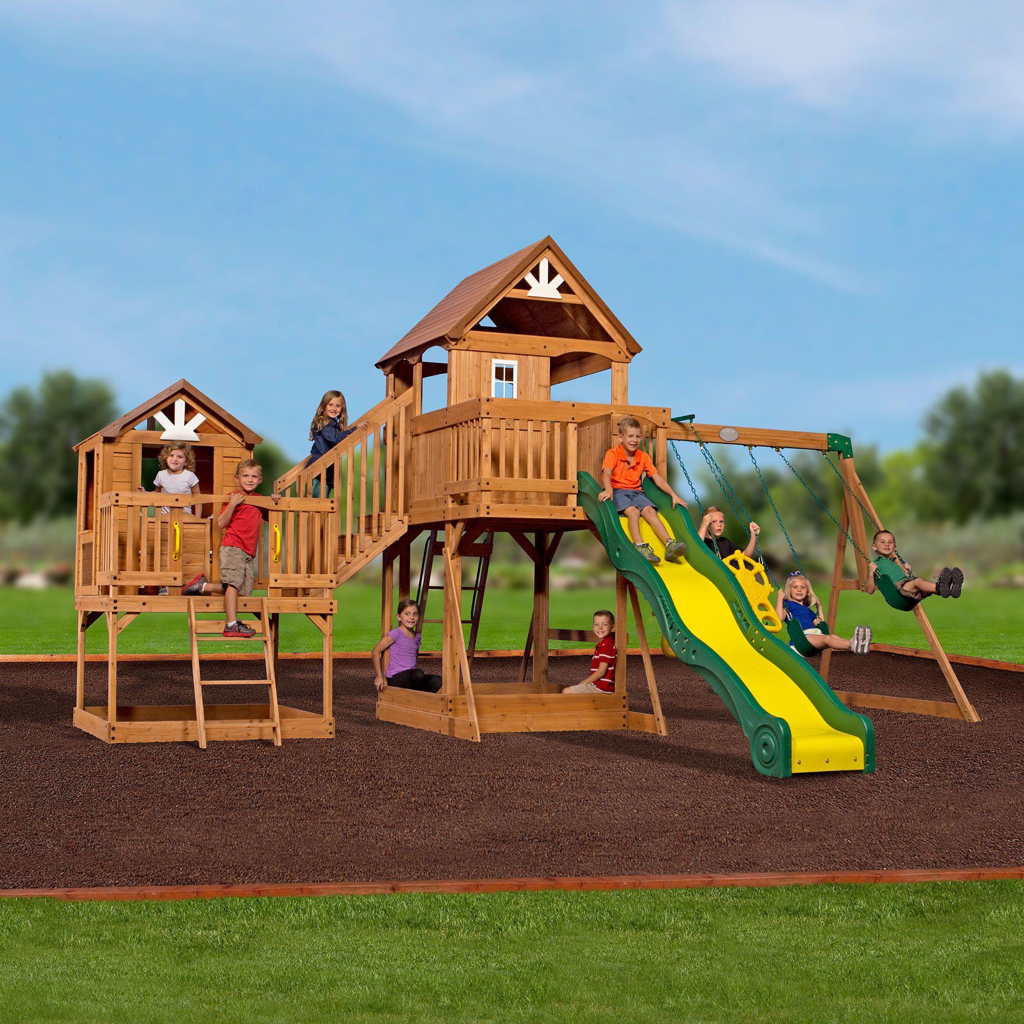 Malibu Wooden Swing Set Cedar Swing Sets Swing Set Wooden Swing Set