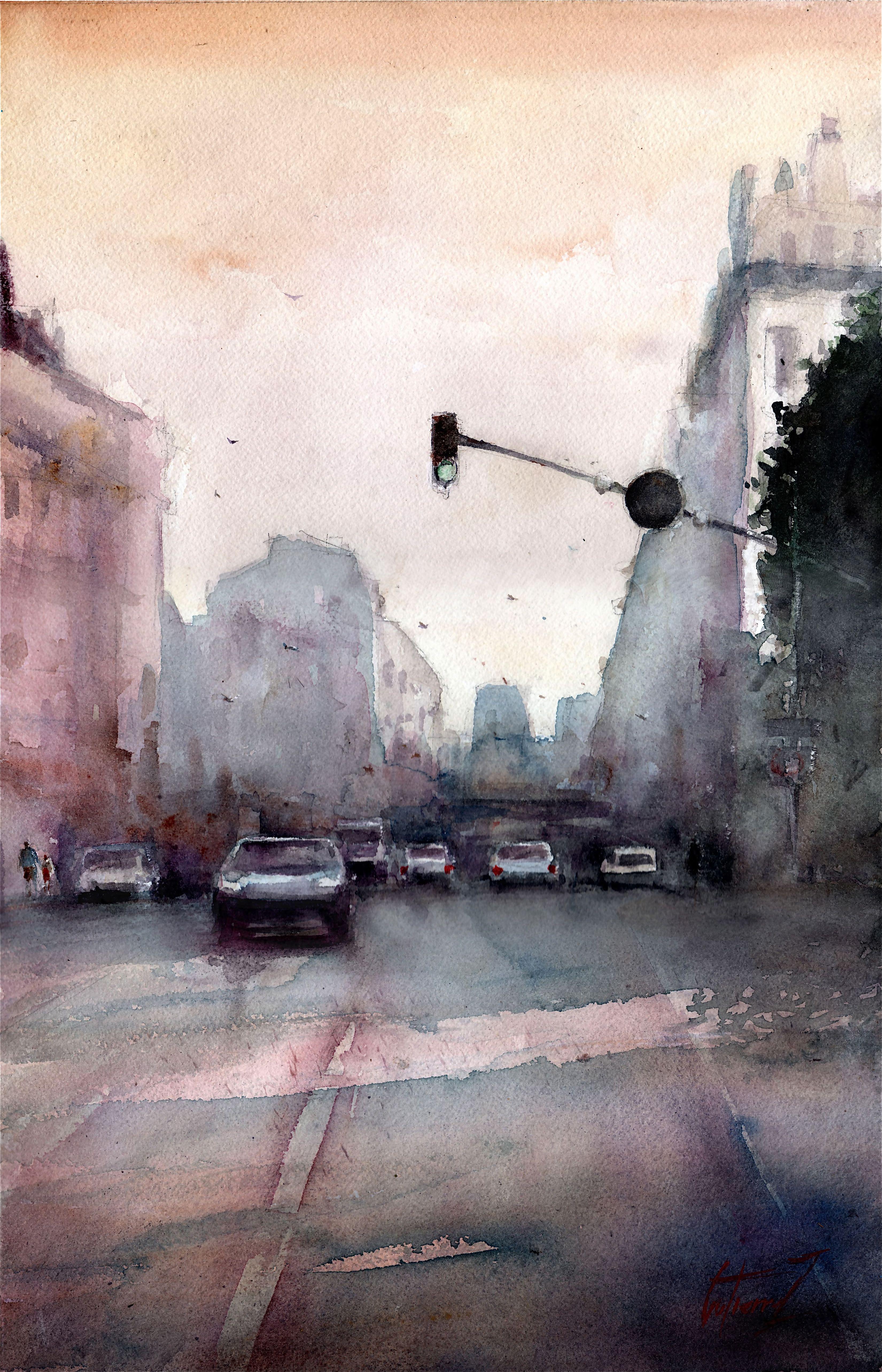 Le Cours Lieutaud A Marseille Par Pierre Gutierrez Peinture