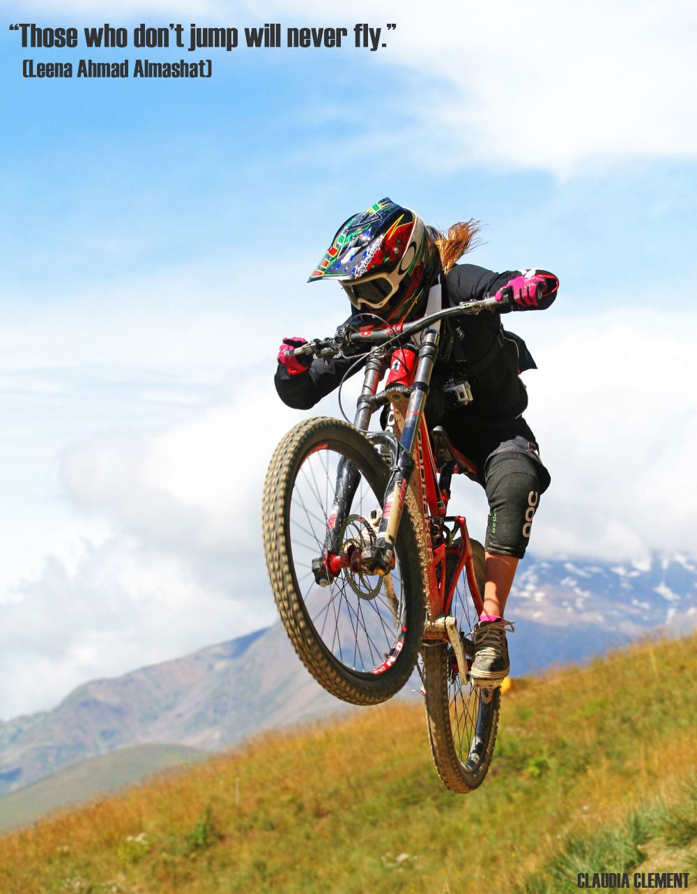 Those Who Don T Jump Will Never Fly Mountain Biking Women
