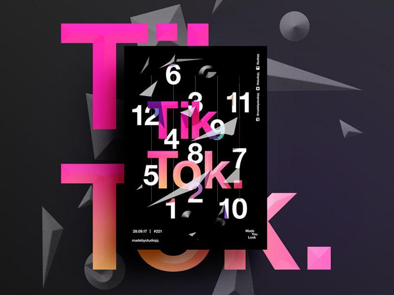 Made You Look 221 Tik Tok Poster Design Graphic Design Posters Graphics Design Ideas