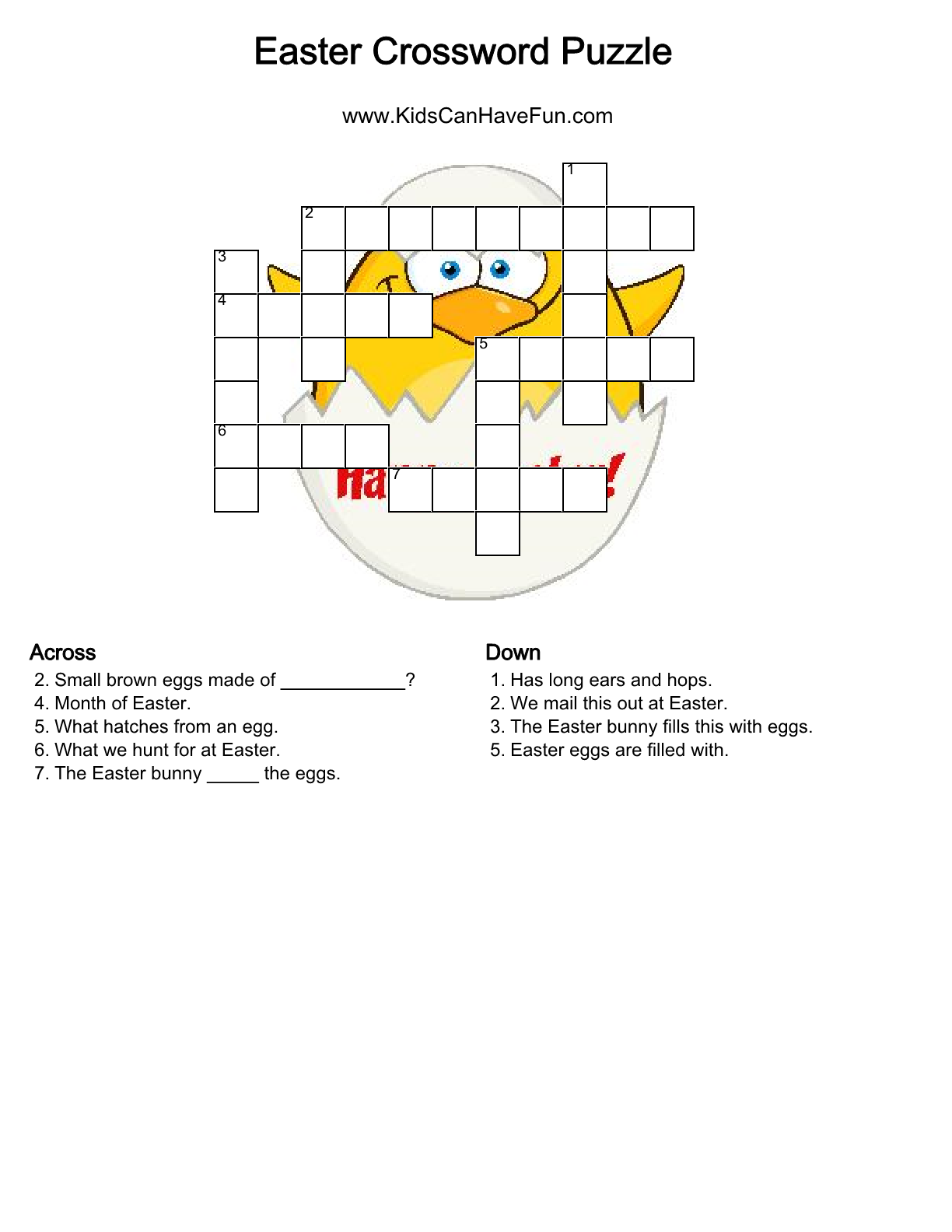 Easter Crossword Puzzle Dscanhavefun