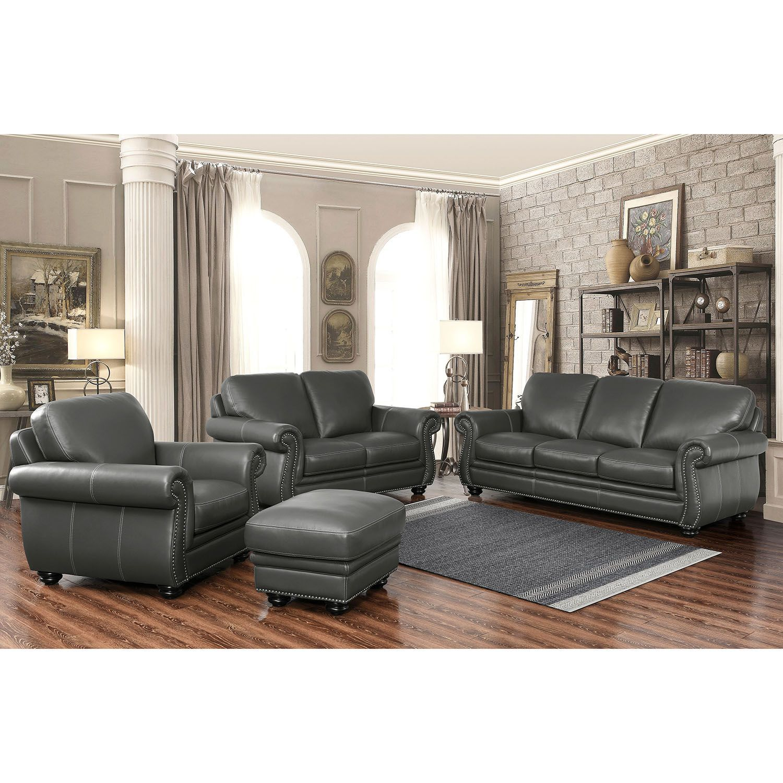 Kassidy topgrain leather sofa loveseat armchair and