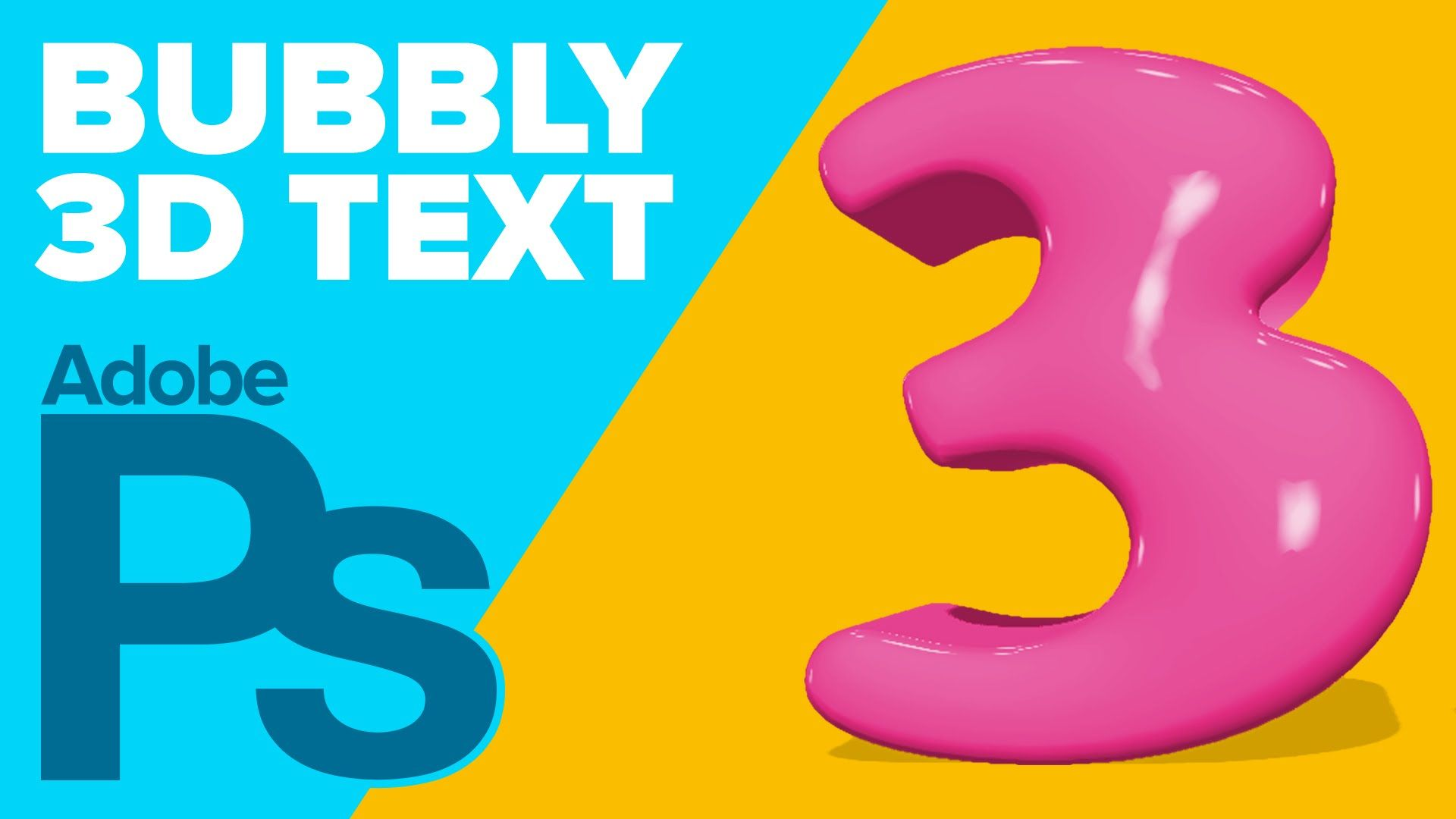 How To Create 3d Bubbly Text In Photoshop Cs6 Extended Youtube Photoshop Cs6 Photoshop Bubbles