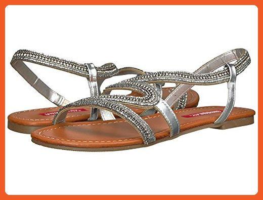 Unionbay Womens Emma3-U Beaded Rhinestone Crystal Embellished Flat Sandal  (9 B(M) US b96845793860