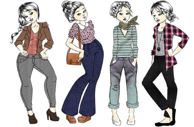 Conseil morpho choisir le jean id al mode - Quelle coupe de jean choisir ...