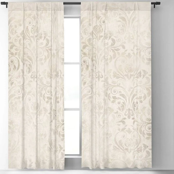 Elegant Ivory Damask 2 Blackout Window Curtains Drapes By Juliana Rw 50 X 84 Set Of Two Google Sh Curtains Drapes Curtains Window Curtains And Drapes