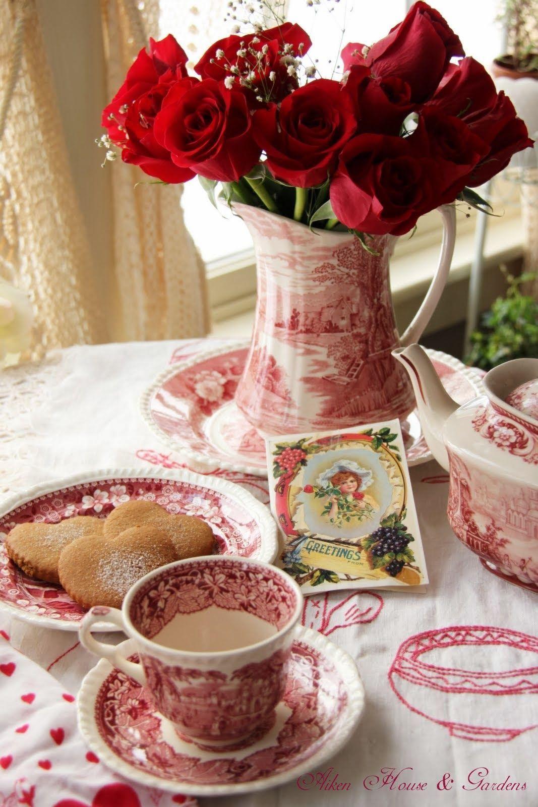 Aiken House & Gardens Red & White Valentine's Day Tea