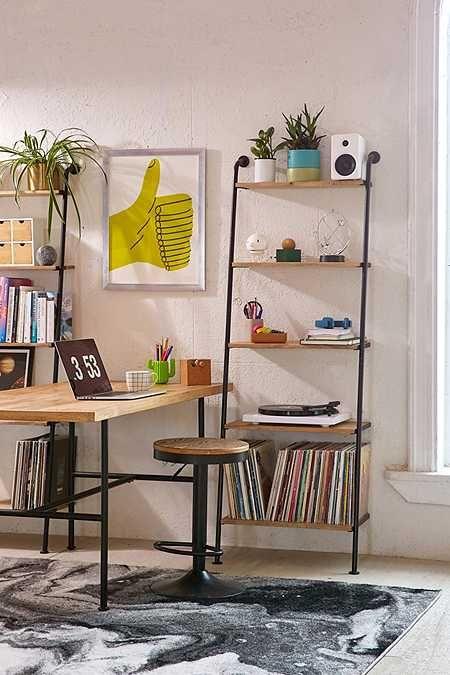 Fulton Leaning Bookshelf