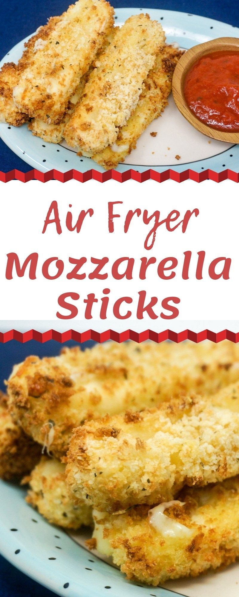 Air Fryer Mozzarella Sticks Recipe Air fryer recipes