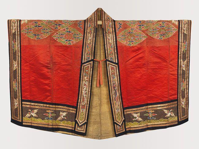 Daoist Dignitary Robe, Qing dynasty (1644–1911), 17th–18th century  China  Satin, metallic thread