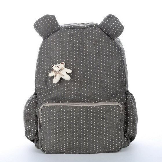 Simple & Sweet Polka Dot Bear Quality Canvas Children's