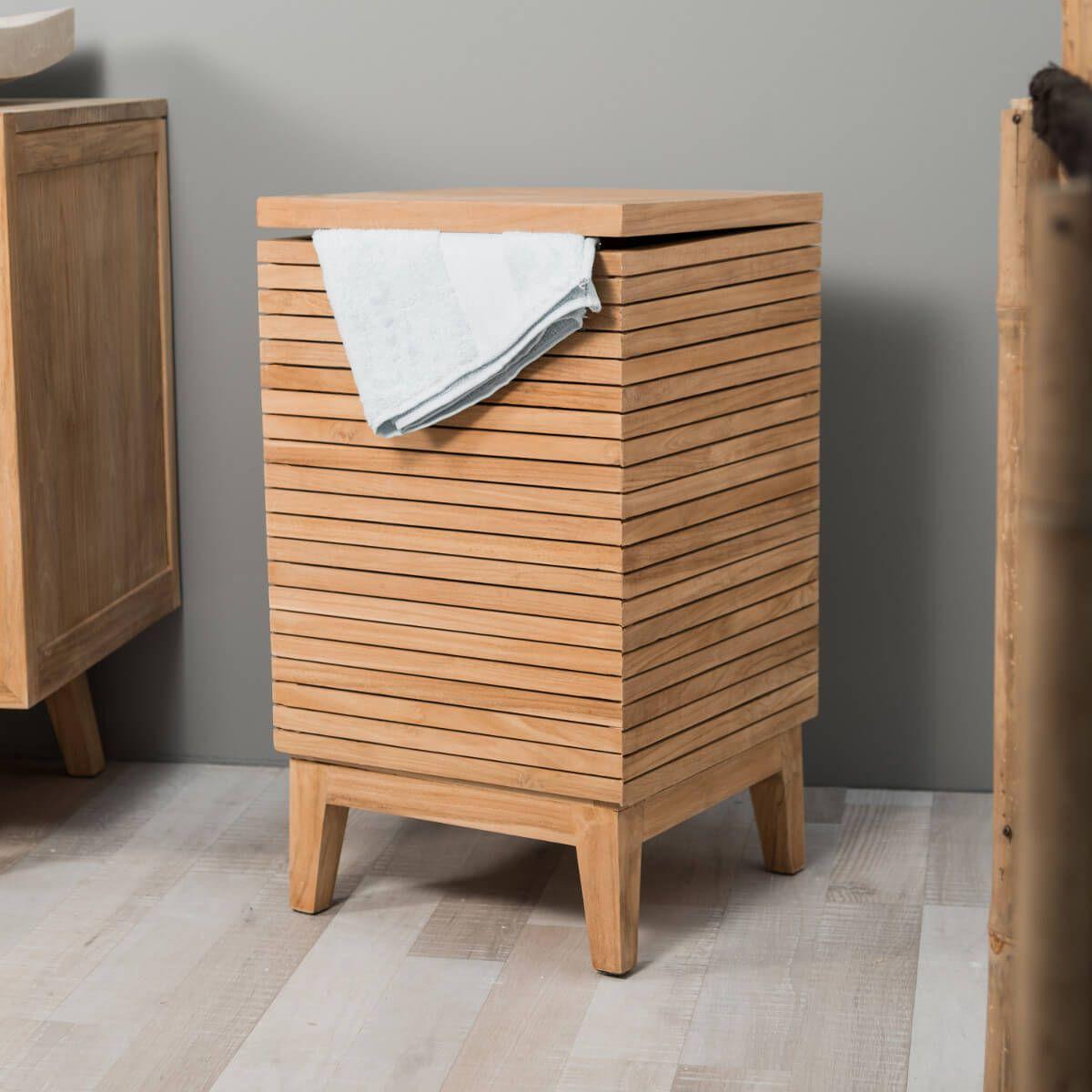 Bac linge en teck en 2019 collection luxe coffre - Coffre de salle de bain ...