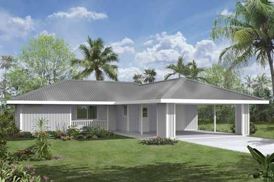 Affordable house package kit hilo hawaii 3 bedroom plans for Hawaii package homes