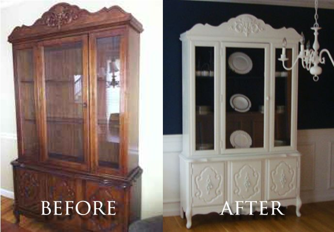 Craigslist Dining Room Hutch Before And After Photo