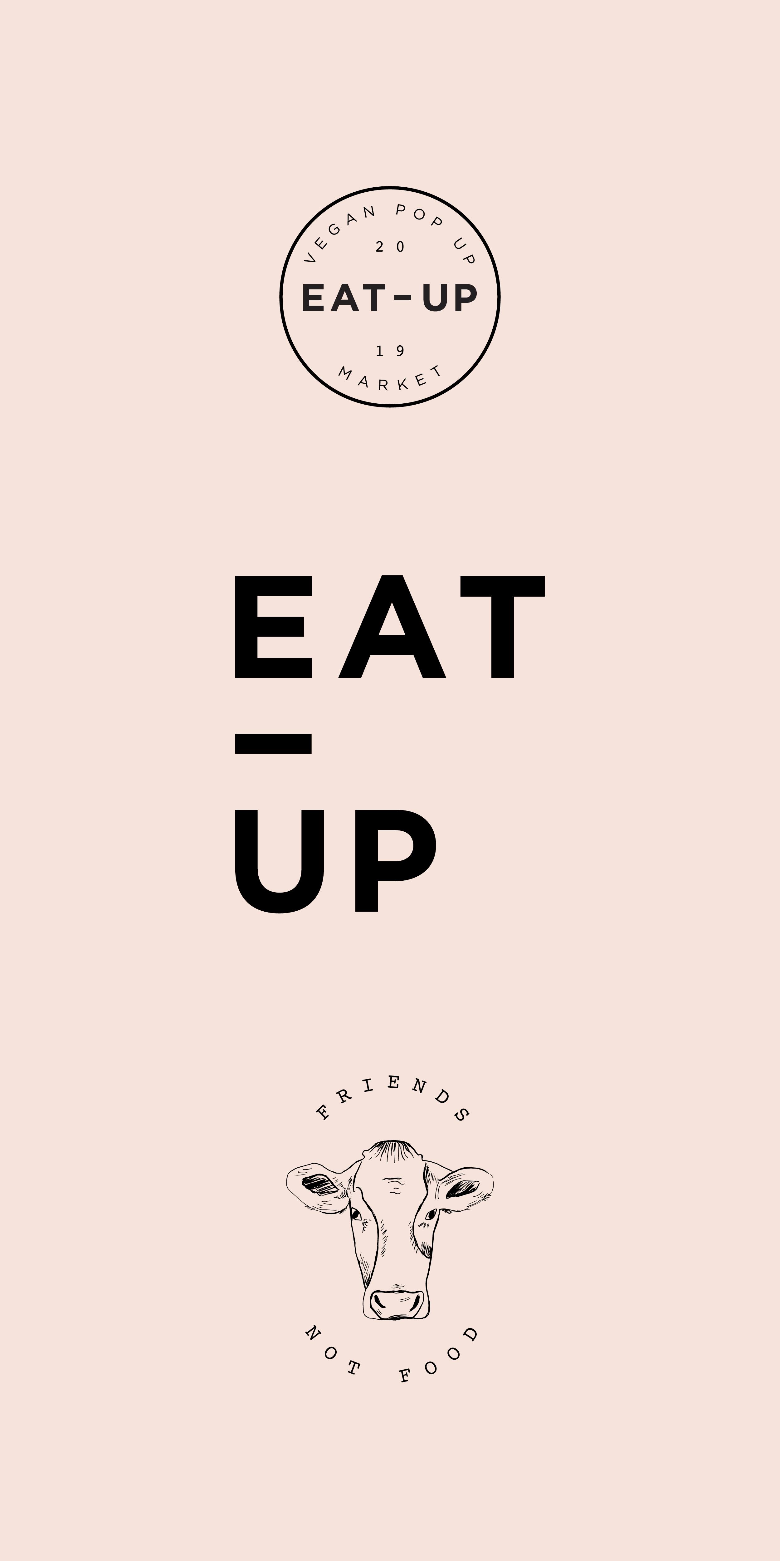 Vegan market branding Cafe logo design, Restaurant logo