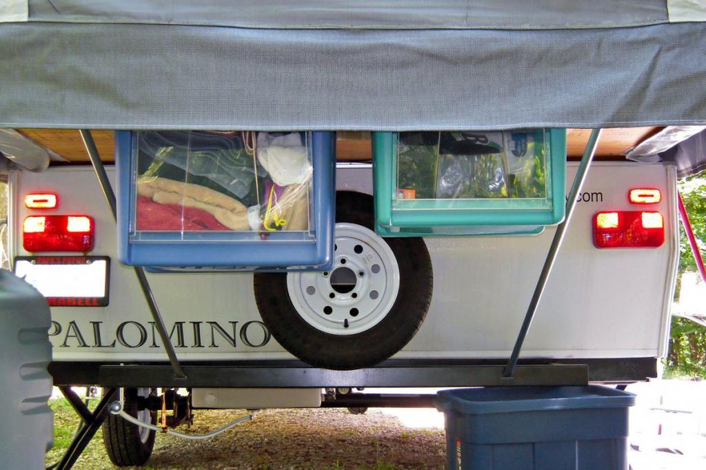 Under Bed Hanging Storage Bins | Camping | Camper storage