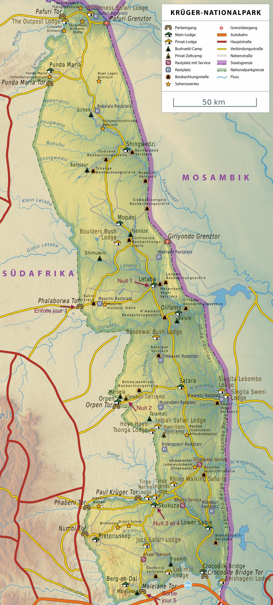 Carte Parc Kruger Afrique Du Sud.Reussir Son Safari Au Parc Kruger Tous Nos Conseils
