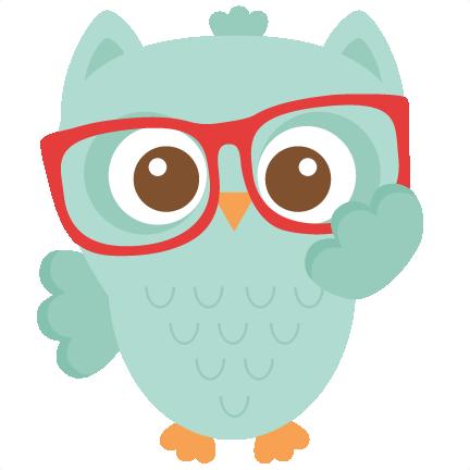 Coruja Lindinha Com Um Oculos Vermelho Coruja Desenho Clipart