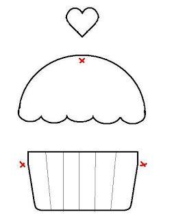 Artesanato e Cia: Moldes de Cupcakes (riscos) postagem programada