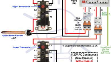 How To Wire 120v Simultaneous Water Heater Thermostat Electrical Circuit Diagram Home Electrical Wiring Hydroelectric Power