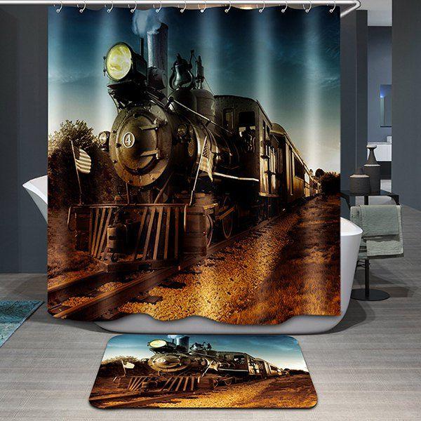 Creative Train Pattern Printing Waterproof Shower Curtain   Pattern ...