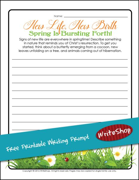 spring writing prompts 1st grade