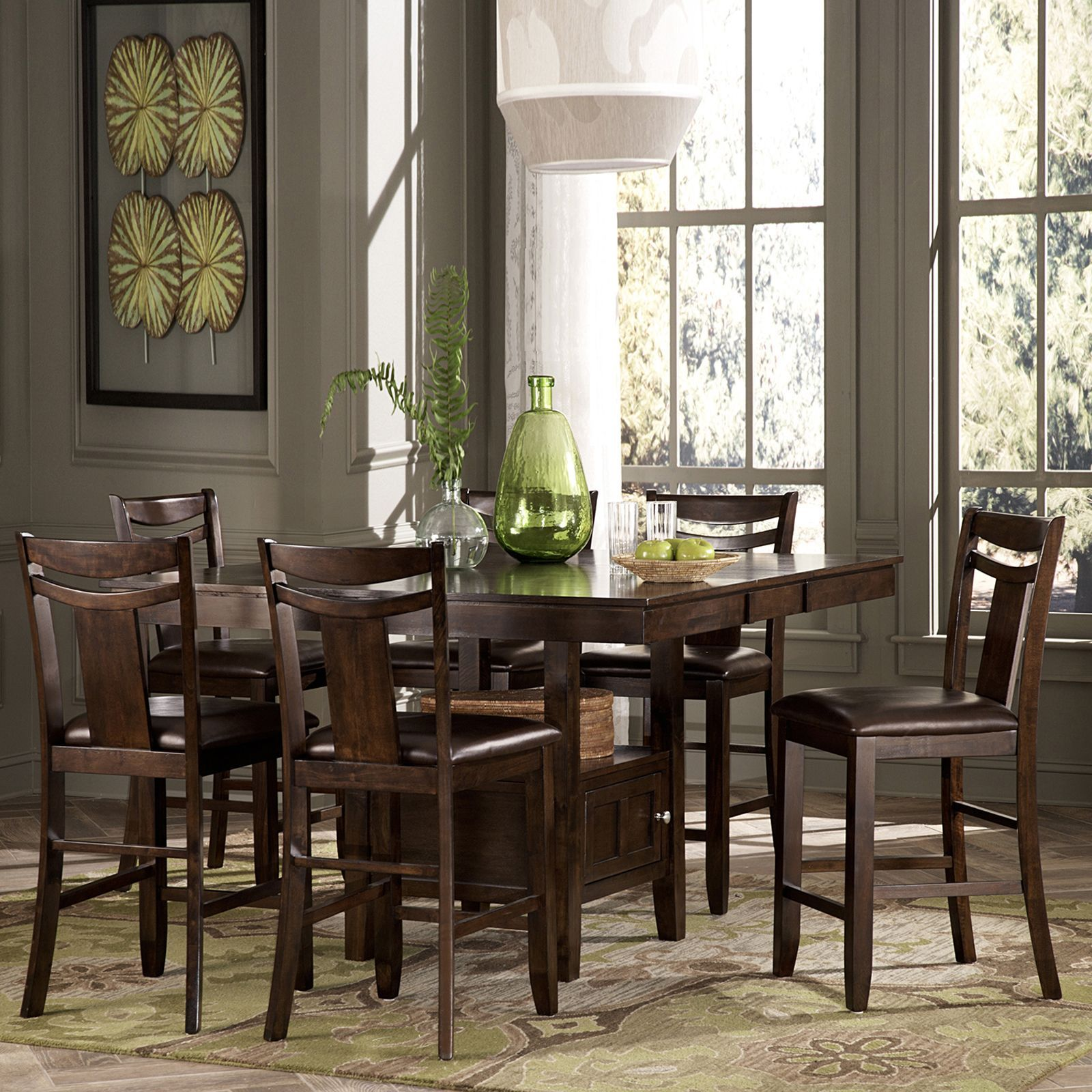 Marsden Rustic Brown Mission Counter Height Extending Dining Set by  TRIBECCA HOME by INSPIRE Q