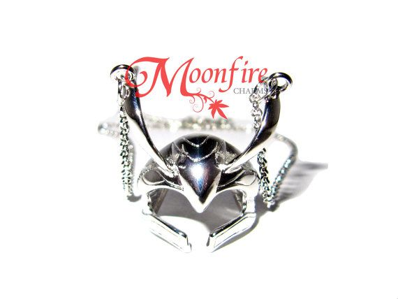 THOR Loki Helmet Ring SILVER Necklace by moonfirecharms on Etsy