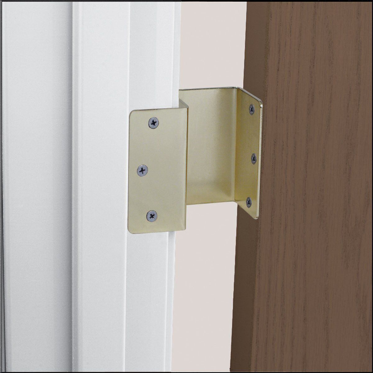 Healthsmart Expandable Offset Door Hinge In Brass Doors Door Hinges Home