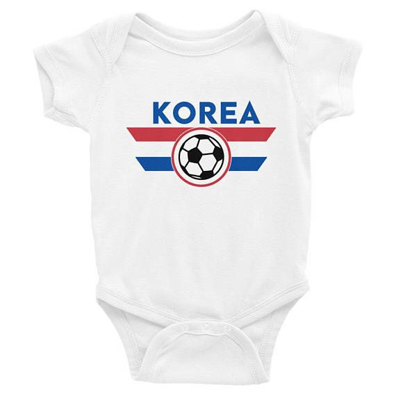 0b661f946ac South Korea Soccer Jersey Shirt Onesie World Cup Korean Kpop ...