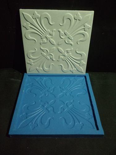 Molde Forma De Silicone Mosaico Gesso Imperial I 20x20 Cm