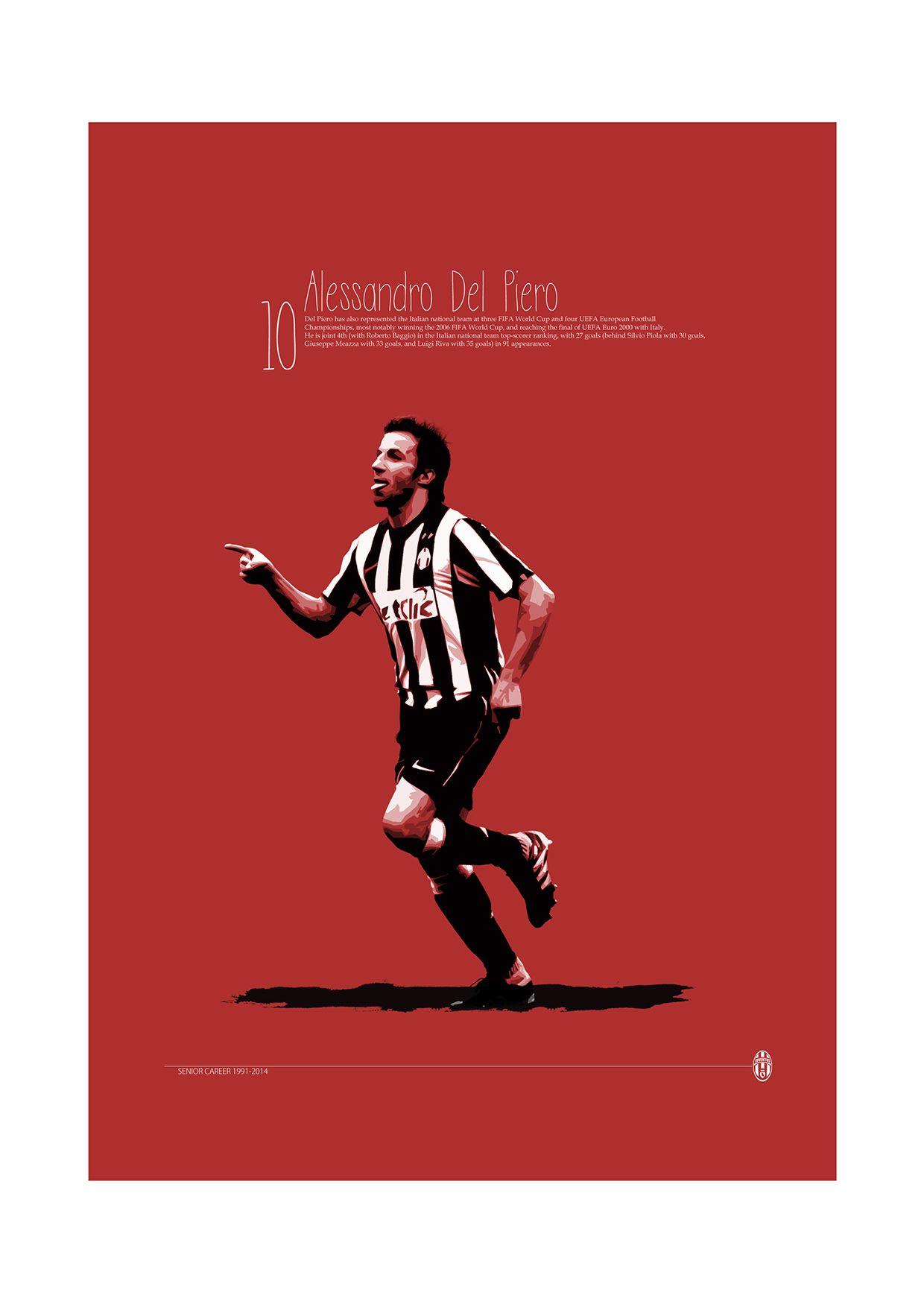 4dc0e258161 Soccer Legends Poster on Behance   Alessandro Del Piero