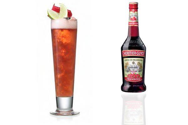 Iced Raspberry, cocktail à la bière blanche et à la crème de framboise #biere #cocktail