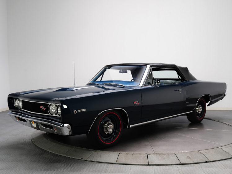 1968, Dodge, Coronet, R t, Hemi, Convertible, Ws27, Muscle, Classic hd wallpaper