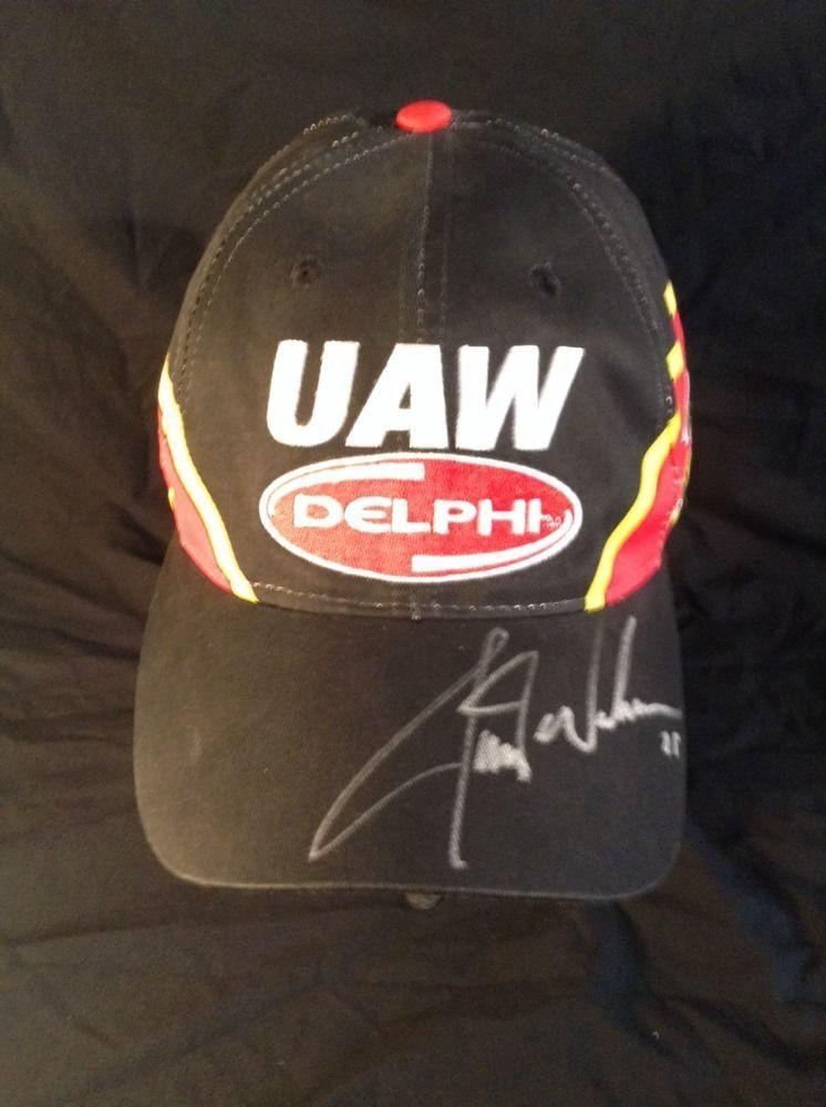 Hendrick Motorsports Joe Nemechek NASCAR Racing Cap Hat UAW Delphi #25 Signed #sportsdesign #HendrickMotorsports