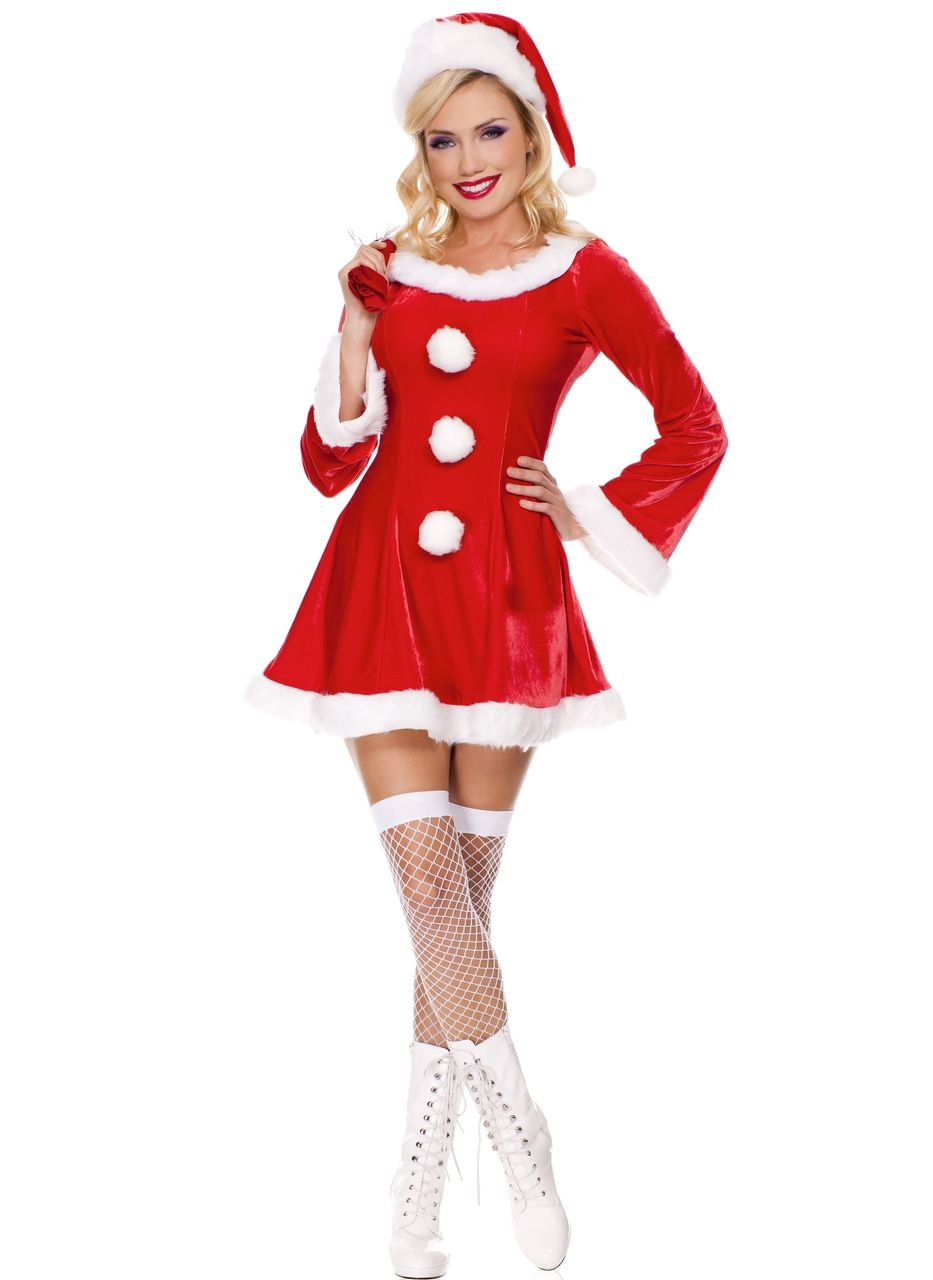 Claus Adult Costume Fancy Dress Red Christmas Santa Women/'s XS-XXL Classic Mrs