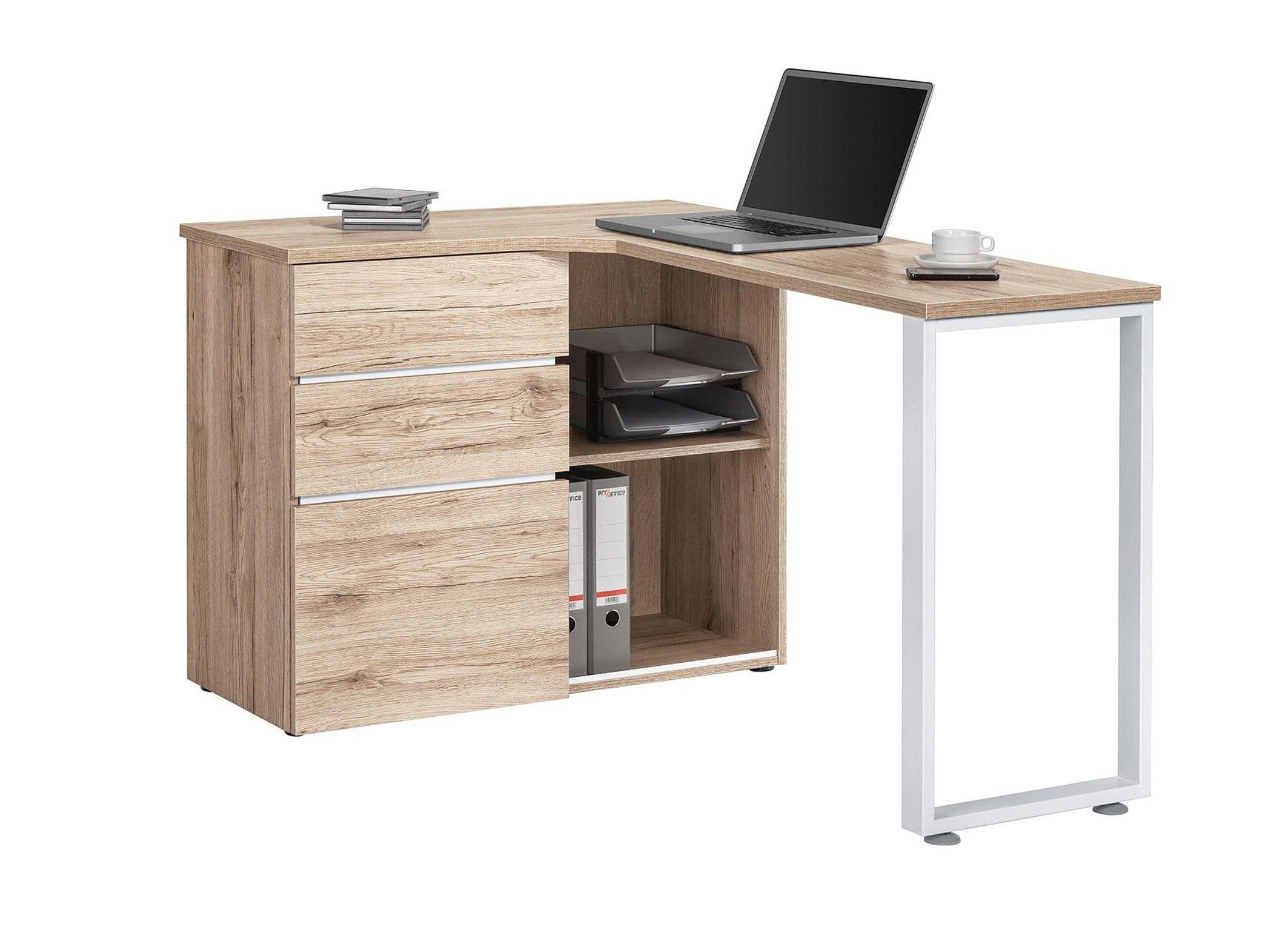 bureau informatique d 39 angle contemporain avec rangement ch ne sauvage lelia pinterest bureau. Black Bedroom Furniture Sets. Home Design Ideas