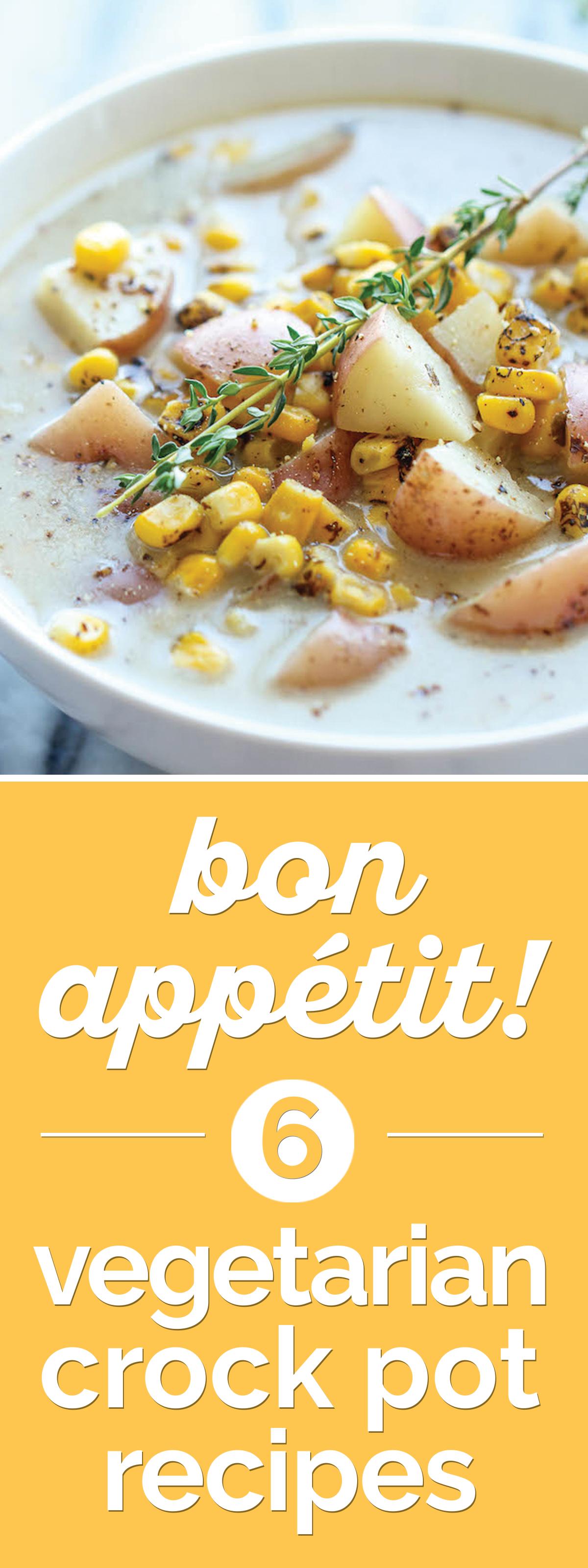 Bon Appétit! 7 Vegetarian Crock Pot Soup Recipes