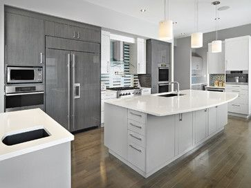 Love The Cabinet Color And Material Made By Neff Out Of Ontario Canada Combination European Modern Grey Kitchen Kitchen Design Centre Grey Kitchen Cabinets