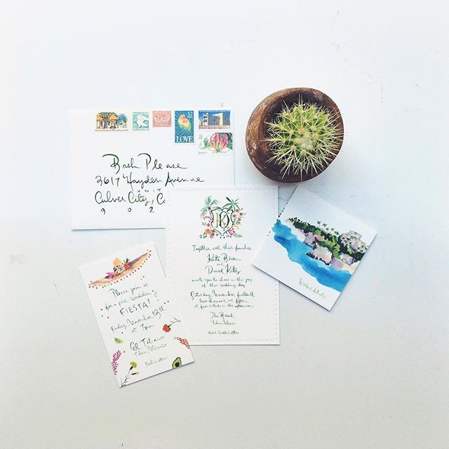 our favorites  for the Tulum wedding of @_katebrien_ & @davidkitz  by our favorite @happymenocal in the mail! #elcampokitz